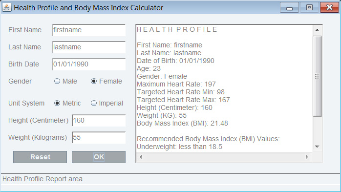 Java Gui Swing Java Bmi Calculator Java Gui Programming Java Desktop